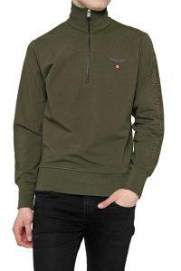 AERONAUTICA_MILITARE-Aeronautica-Militare-Sweatshirt-SMALL-ZIP_11796-Armeegruen-01z
