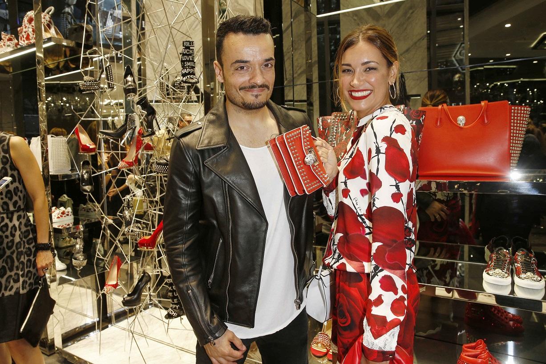 Giovanni Zarrella und Frau Jana Ina Philipp Plein Boutique Re-Opening in der Königsallee in Düsseldorf am 02.06.2016. (c) Jessica Kassner für Philipp Plein